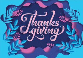 Papercraft Thanksgiving Vol 3 Vecteur