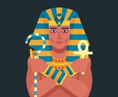 Illustration du pharaon vecteur