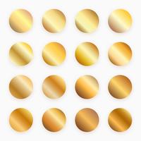 Vecteur nuancier dégradé or