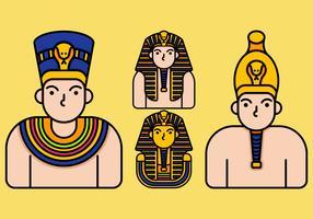 Pharaon icône vecteur