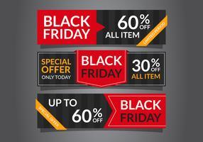 Bannières Black Friday Sale élégantes vecteur