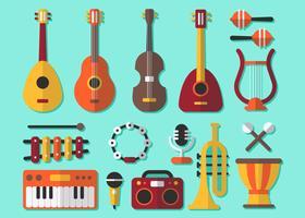 Vecteur élément musique