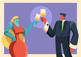 toast au champagne vecteur