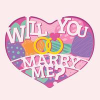 Voulez-vous me marier lettrage avec style de papier Craft