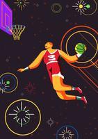 basket slam dunk vecteur