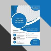 modèle vectoriel abstrait d'entreprise. conception de brochures, couverture mise en page moderne, rapport annuel, affiche, flyer en a4 avec des formes elliptiques vecteur gratuit