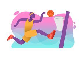 Illustration de joueur de basket vecteur