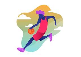 Clipart de joueur de basket vecteur
