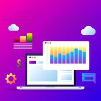 Éléments de concept d'affaires en ligne de marketing numérique