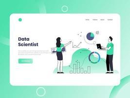 expert data scientist vecteur
