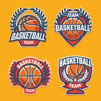 Badge de basketball vecteur