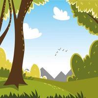 champ de brousse de la forêt vecteur