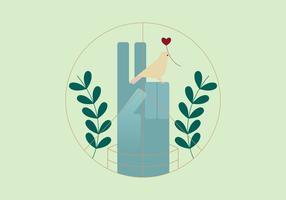 Illustration symbole géométrique de la paix vecteur