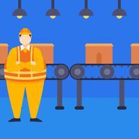 Vecteurs de travailleurs d'usine exceptionnels vecteur