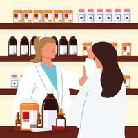 pharmacien et patient vecteur