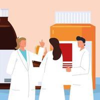 pharmaciens personnel médical vecteur