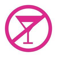 ne buvez pas d'alcool icône de style de silhouette de signal vecteur