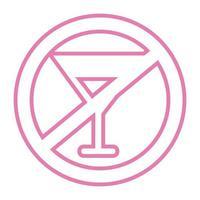 ne buvez pas d'icône de style de ligne de signal d'alcool vecteur
