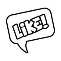 bulle de dialogue avec mot d'expression comme style de ligne pop art vecteur