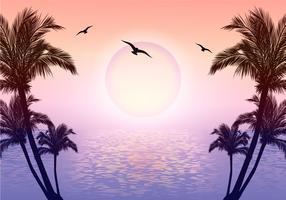 Belle illustration de scène tropicale vecteur