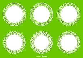Collection de forme de dentelle ronde