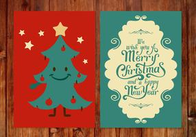 Jolie carte de Noël vecteur
