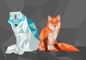 Illustration vectorielle renard forme géométrique polygonale vecteur