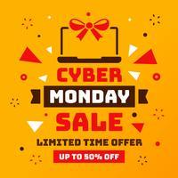 Vecteur de vente Cyber Monday