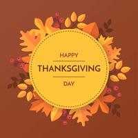 Papercraft Thanksgiving Autumn Leaves Template Vecteur