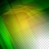 Abstrait géométrique ondulé vert