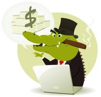 Crook Bankster Crocodile
