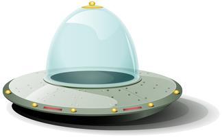 Vaisseau spatial Cartoon rétro vecteur