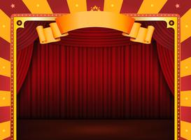 Affiche De Cirque Avec Scène Et Rideaux Rouges vecteur