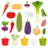 Légumes Icons Set vecteur