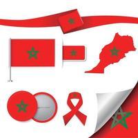 drapeau du maroc avec des éléments vecteur
