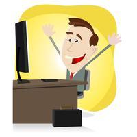 Trouvez vos affaires sur le net vecteur