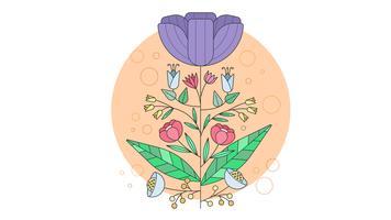 Vecteur de design floral