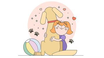 Amour mon vecteur de chien