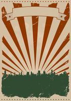 Affiche américaine vintage vecteur