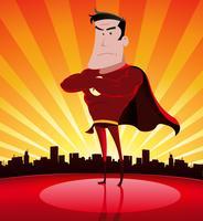 Super héros dans la ville vecteur
