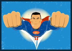Super-héros de type bande dessinée grunge vecteur