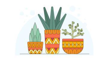 Vecteur de plantes exotiques