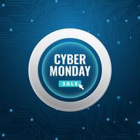 Message sur les médias sociaux de Cyber Monday vecteur