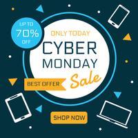 Modèle de publication de média social Cyber Monday Sale vecteur