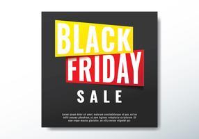 Bannière de vente du vendredi noir vecteur
