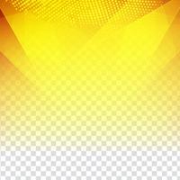 Abstrait polygonale géométrique jaune moderne vecteur
