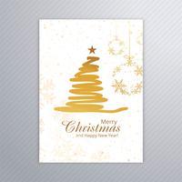 Belle joyeuse fête de Noël affiche modèle de conception vecteur