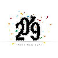 Carte de bonne année 2019 élégante avec un fond blanc