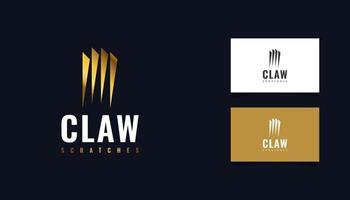 création de logo de griffe d'or. logo à gratter vecteur