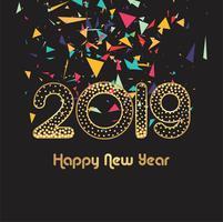 Beau fond vecteur 2019 nouvel an carte célébration